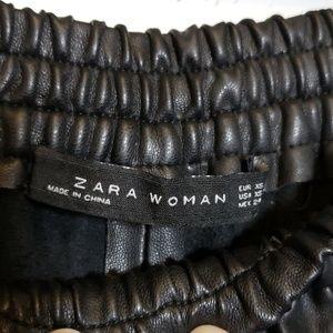 Zara Pants - Zara Faux Leather Black Culottes